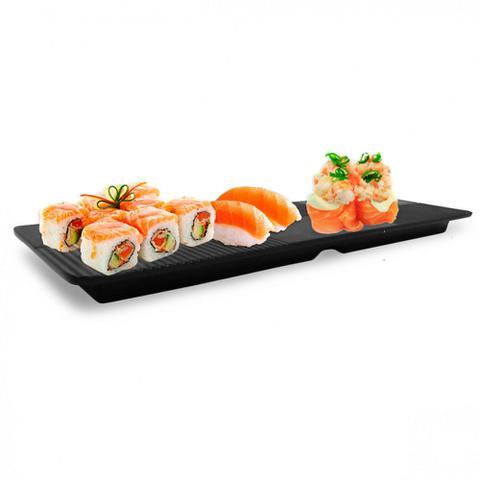 Imagem de Prato Travessa Retangular 33 Cm em Melamina / Plastico para Sushi  utilgoods