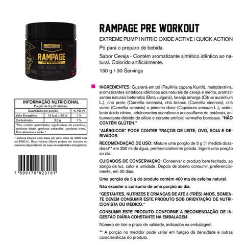 Imagem de Pré-Treino Rampage 150g Exclusivo - Pretorian