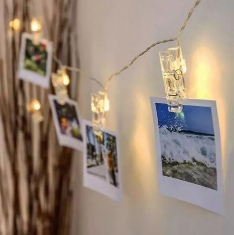 Imagem de Prendedor Cordão Varal Pregador Luminoso Led para Foto