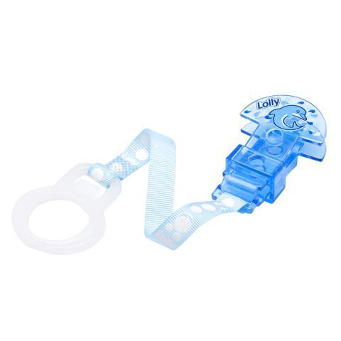 Imagem de Prendedor de Chupeta Oceano com 1 (uma) unidade e argola flexível na cor azul.