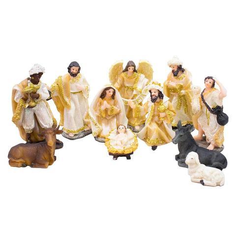 Imagem de Presépio 11 Peças 12cm - Enfeite Resina Decoração Natalina