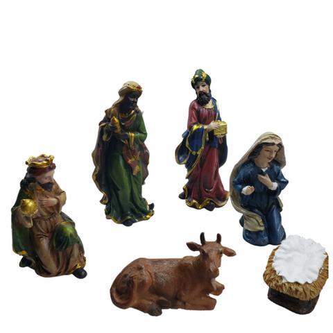 Imagem de Presépio 12cm Resina Com Menino Jesus Solto 11 Peças Espressione Christmas