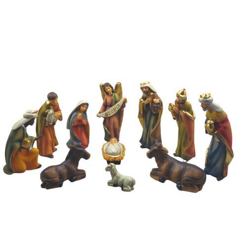 Imagem de Presépio 15cm Resina Com Menino Jesus Solto 11 Peças Espressione Christmas