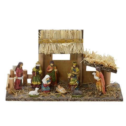 Imagem de Presepio Com Estabulo 29cm Boas Vindas Espressione Christmas