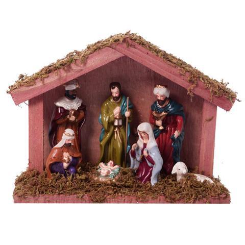 Imagem de Presepio Com Estabulo Nasce o Menino Jesus 16cm Espressione Christmas