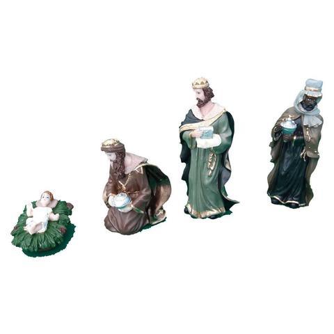 Imagem de Presépio de Natal Coleção com 11 peças de 15 cm em Resina