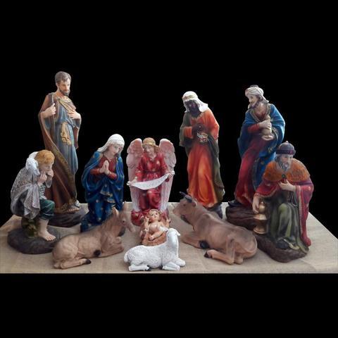 Imagem de Presepio resina completo com 11 pecas - nataluz