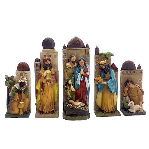 Imagem de Presepio resina sagrada familia com 5 peças - wincy natal