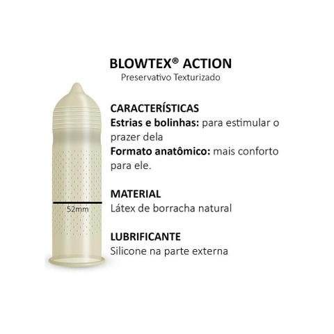 Imagem de Preservativo Blowtex Action c/ 3 Unidades