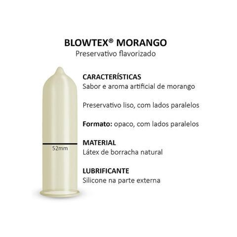 Imagem de Preservativo Blowtex Morango c/ 6 Unidades