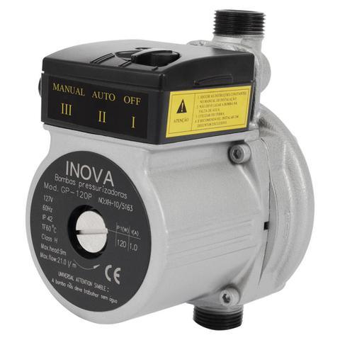 Imagem de Pressurizador Inova C/ Fluxostato GP-120 P (Ferro) 1/6 CV 220V Mono.