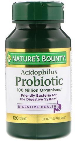 Imagem de Probiotico Acidophilus 100 Million 120 Tabletes - Nature's Bounty