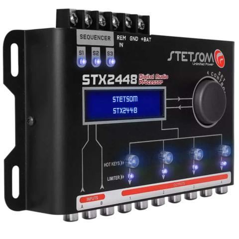 Imagem de Processador de Áudio Digital Stetsom STX2448 2 Canais 4 Saídas Estéreo Equalizador 10Hz a 22500Hz