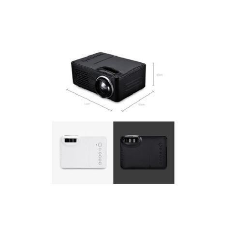 Imagem de Projetor led hd portatil home cinema em casa mini fotos videos com controle usb sd av bivolt