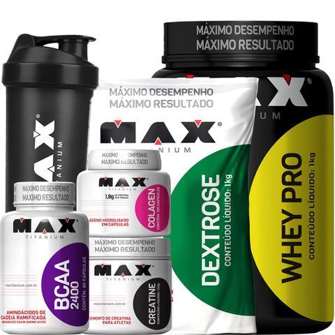 Imagem de Promoção Max Titanium Kit Ganho De Massa Muscular Whey Protein