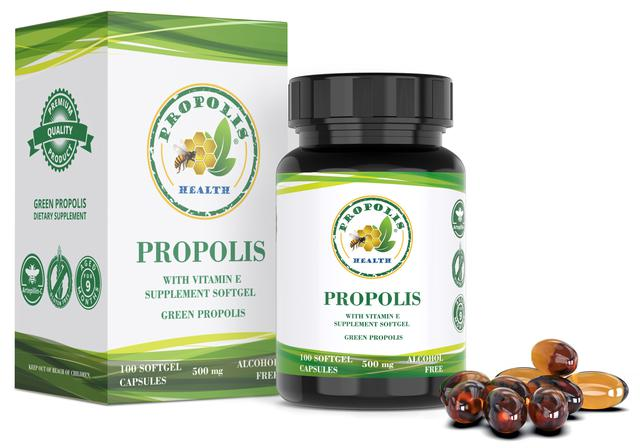 Imagem de Propolis Verde 100 Cápsulas  Suplemento de Propolis Com Vit. E 1000mg/dia  50 Dias de Suplemento