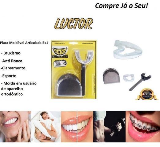 Imagem de Protetor Bucal Bruxismo Ronco Ranger Dentes Duplo Articulado Original- Luctor Vamp 5em1