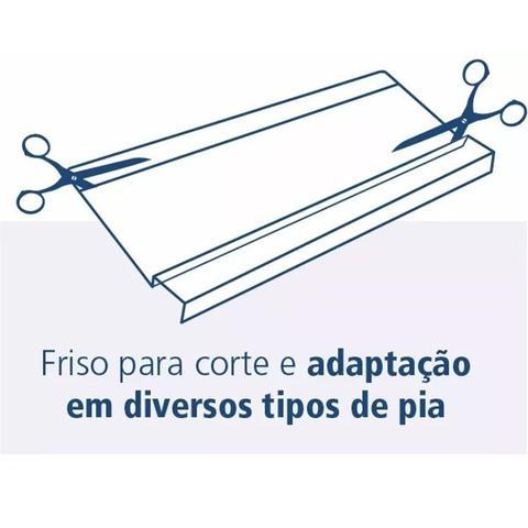 Imagem de Protetor De Pia De Cozinha Transparente Com Friso Louças