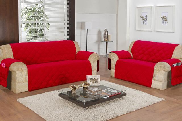 Imagem de Protetor de Sofá 2 e 3 lugares - Vermelho