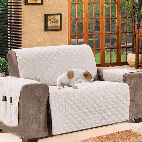 Imagem de Protetor de Sofá Impermeável Casa Dona 2 Lugares Branco