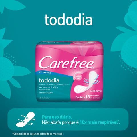 Imagem de Protetor Diário Carefree Todo Dia sem Perfume c/ 15 unidades