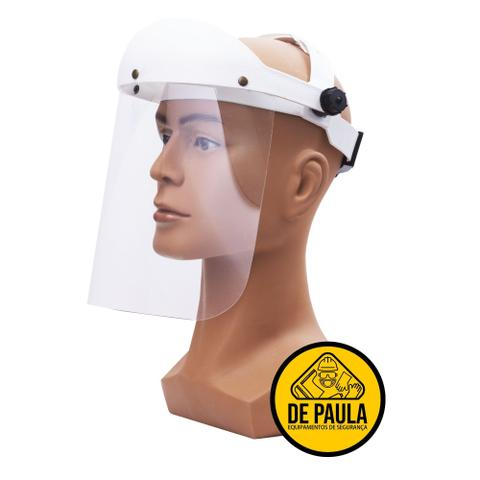 Imagem de Protetor facial face shield branco catraca médico e enfermeiro