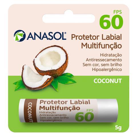 Imagem de Protetor Hidratante Labial Coconut FPS60 Anasol