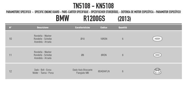 Imagem de Protetor Motor R 1200 Gs Bmw 2013/2018 Tn5108 Givi
