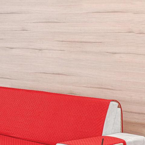 Imagem de Protetor para Sofá 3 Lugares Dupla Face Vermelho/Avelã