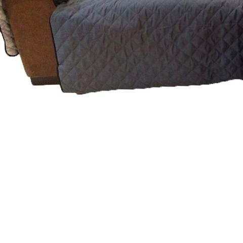 Imagem de Protetor Para Sofá De 2 Módulos Microfibra Matelado Retrátil Reclinável Com Assento De 2,00M - Chumbo
