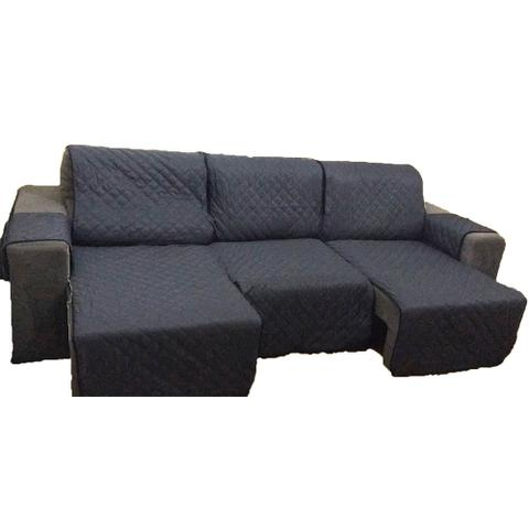 Imagem de Protetor Para Sofá De 3 Módulos Microfibra Matelado Retrátil Reclinável Com Assento De 1,80M