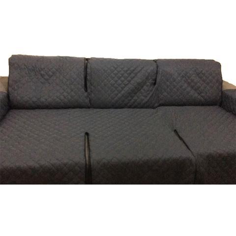 Imagem de Protetor Para Sofá De 3 Módulos Microfibra Matelado Retrátil Reclinável Com Assento De 2,00M