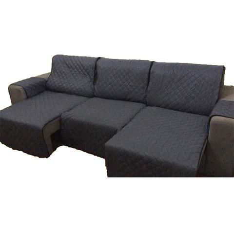 Imagem de Protetor Para Sofá De 3 Módulos Microfibra Matelado Retrátil Reclinável Com Assento De 2,40M