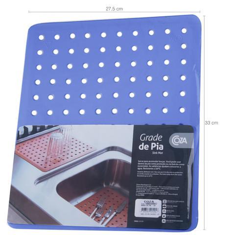 Imagem de Protetor Pia Para Lavar Escorredor De Louças Grade Protege Azul