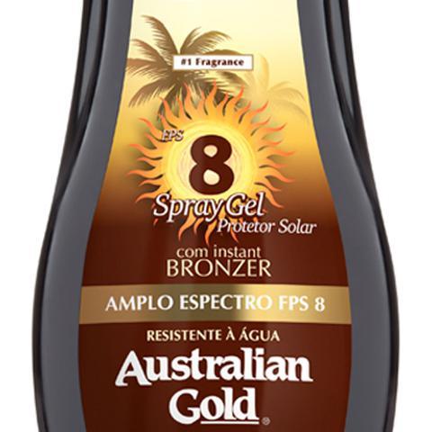 Imagem de Protetor Solar Corporal FPS 8 Australian Gold - Instant Bronzer Spray Gel