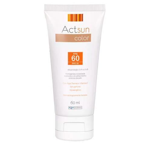 Imagem de Protetor Solar Facial com Cor de Base Fps60 Actsun Color - Protetor Solar
