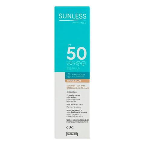 Imagem de Protetor Solar Facial Sunless FPS 50 Com Base 60g - Bege Claro