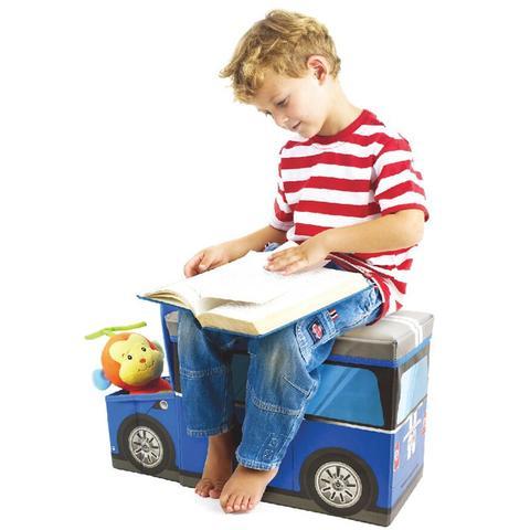 Imagem de Puff Bau Organizador de Brinquedos Infantil Policia