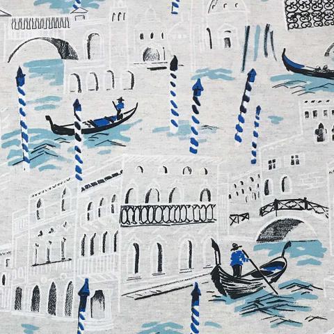 Imagem de Puff Decorativo Baú Dani Quadrado Estampado Veneza D21 - D'Rossi