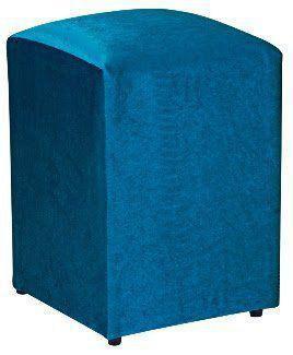 Imagem de Puff Decorativo Suede Azul