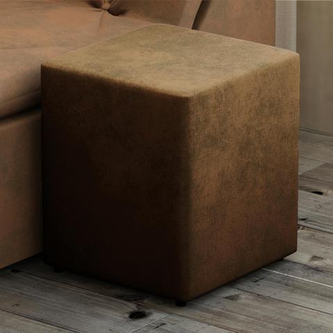 Imagem de Puff Quadrado Box Suede Marrom