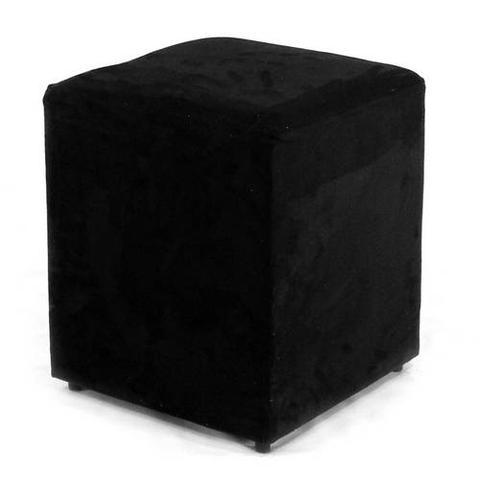 Imagem de Puff Quadrado Box Suede Preto