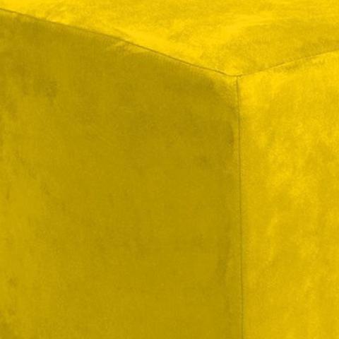 Imagem de Puff Quadrado Decorativo Suede Amarelo - Lyam Decor