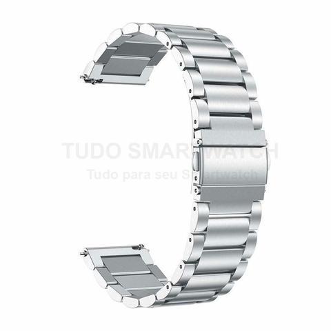 Imagem de Pulseira de Metal Aço Inox Prata para Relógio Samsung Galaxy Gear S2 Sport