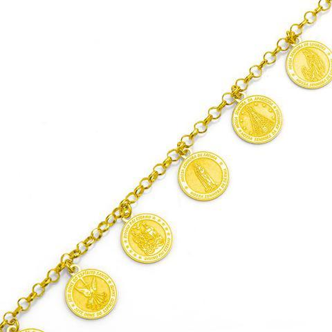 Imagem de Pulseira de Ouro 18k com Berloques de Santos 19cm pu02956 0e42267df7