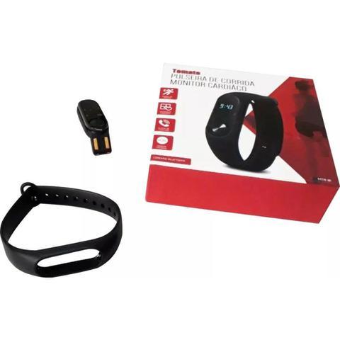 Imagem de Pulseira Inteligente Smartband M2 MTR-1 Tomate Bluetooth Frequência Cardiaca Pedometro