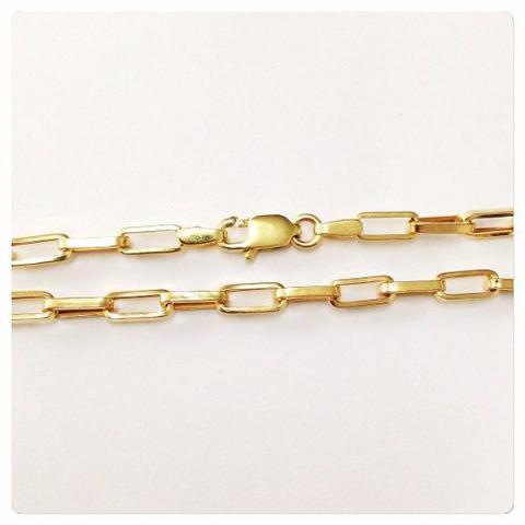 Imagem de Pulseira Masculina Ouro Amarelo Elo Cadeado 18k 750 Maciça