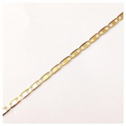 Imagem de Pulseira Masculina Piastrine 18cm X 2mm Em Ouro 18k-750