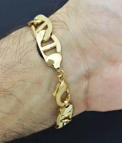 Imagem de Pulseira Masculina Piastrine 21cm Banho Ouro 18k 1567