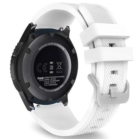 Imagem de Pulseira Samsung Gear S3 Frontier E Classic Engate Rápido Silicone + Pinos